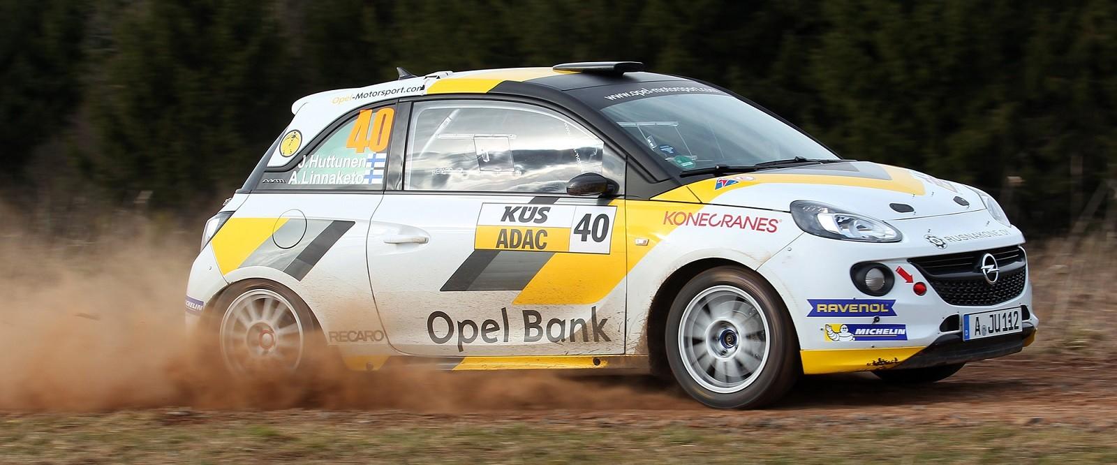 Jari Huttunen Antti Linnaketo  Opel Adam R2 Photo Karsten Huber